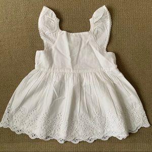 BABY GAP   NWT White Lace Trim Dress